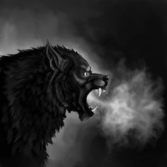 Werewolf sketch and speedpaint dump by Atan on DeviantArt Bark At The Moon, Howl At The Moon, Werewolf Ears, Character Description, Fantasy Art, Beast, Digital Art, Old Things, Lion Sculpture