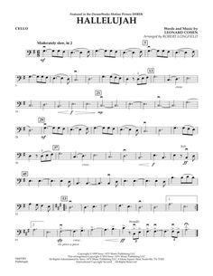 """Képtalálat a következőre: """"hallelujah cello sheet music"""""""