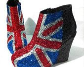Glitter union jack wedges. What could go wrong?