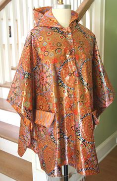 Partly Cloudy Poncho – IJ870 sewing pattern from IndygoJunction.com created using Kaffe Fassett's laminated fabrics