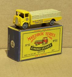 51-A 	Albion Chieftain Matchbox Cars, Train Set, Cement, Diecast, Youth, Young Adults, Teenagers, Concrete