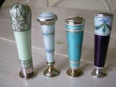 Guilloche enamel silver deskseals. Are in my present collection.