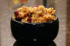 Easy Crockpot Cornbread Dressing: Crockpot Cornbread Dressing With Sausage and Cranberries