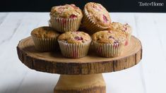 Our best muffin recipes like banana mocha-chip, blueberry yogurt and apple crunch make sure there won't be any sleepyheads at breakfast. Biscuit Muffin Recipe, Muffin Tin Recipes, Freeze Muffins, Yogurt Muffins, Baking Conversion Chart, Cranberry Muffins, Tea Sandwiches, Chocolate Chip Muffins, Yummy Cupcakes