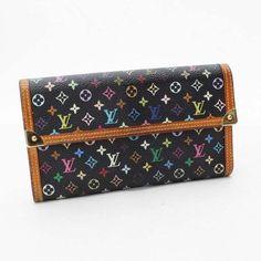 Louis Vuitton Porte Tresor International Monogram Multicolor Wallets Black…