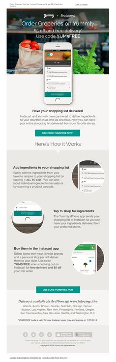 Have your shopping list delivered to your door! | Email Institute