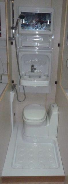 Caravan/Motorhome Magnum Shower Room Kit A (Left Hand, Electric Toilet)