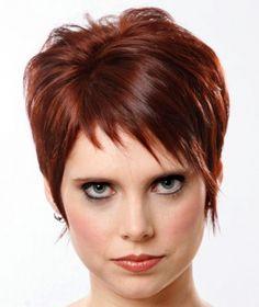 Coupe de cheveux courte cuivre