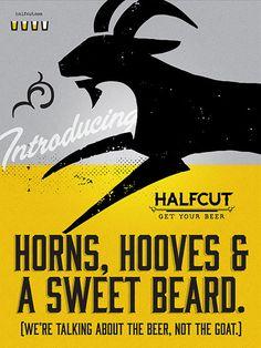 HalfCut Beer Poster