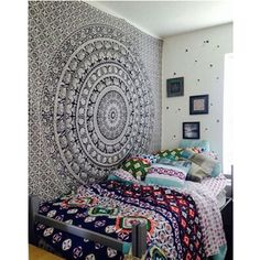 Make your room look unique with Black & White Indian Madala Tapestry made of high quality polyester fabric. It can be used as a wall hanging or a bedspread. Only $20.70. Order now! #IndianMandalaTapestry #BuyOnline #MandalaMagikDeals