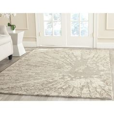 safavieh handmade bella modern abstract winter taupe wool rug 6u00277 x 9u0027 by safavieh