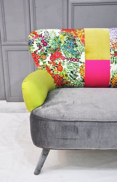Floral Neon Patchwork Sofa
