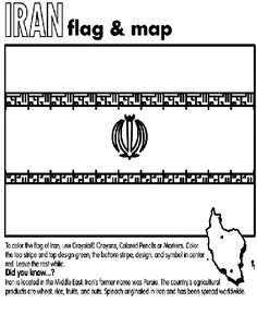 North carolina state coloring day free world flags for Iran flag coloring page