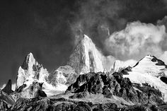 Photograph by Stuart Litoff.  #Mount #FitzRoy and surrounding #peaks in #LosGlaciares #NationalPark in the #Patagonia region of #Argentina