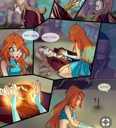 Red Moon page 31 ENG by JuliaGoldfox on DeviantArt Bloom Winx Club, Red Moon, Kids Shows, I Love Anime, Anime Shows, Magical Girl, Anime Couples, Fairy Tales, Character Design