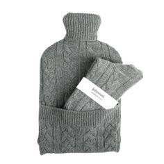 Cashmere hot water bottle & socks by Johnstons of Elgin  | snowzine.com