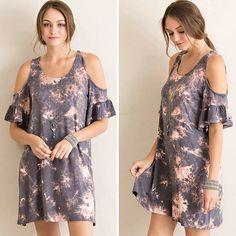 Tie-Dye Printed Open Shoulder Tent Dress $36 perfect summer dress ☀️ @classicpaperdoll #cpdfave #ootd #tiedyedress #coldshouldertop