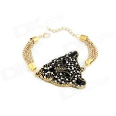 Brand: N/A; Quantity: 1 Piece; Color: Black; Material: Zinc alloy; Gender: Unisex; Suitable for: Adults; Bracelet Length: 18 cm; Bracelet Width: 5.4 cm; Packing List: 1 x Bracelet; http://j.mp/1ljN9GT