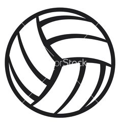 free printable volleyball clip art shape collage shapes rh pinterest com volleyball clipart free images volleyball vector clipart free