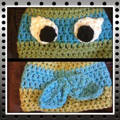 Teenage Mutant Ninja Turtle Crochet Hat Any by ECooksCreations Photo prop Baby toddler photography Cute Crochet, Crochet Baby, Knit Crochet, Mutant Ninja, Teenage Mutant, Crochet Character Hats, Crochet Animal Hats, Toddler Photography, Yarn Thread