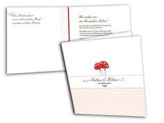 Hochzeitskarten+-+Glückspilz(e) Card Wedding, Invitation Cards, Fungi