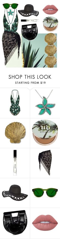 """""""Underneath the palm trees"""" by safia-moizuddin ❤ liked on Polyvore featuring ADRIANA DEGREAS, Carolina Glamour Collection, Currey & Company, Urban Decay, Bobbi Brown Cosmetics, Chesca, Cult Gaia and Lime Crime"""