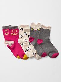 Owl socks (3-pack)