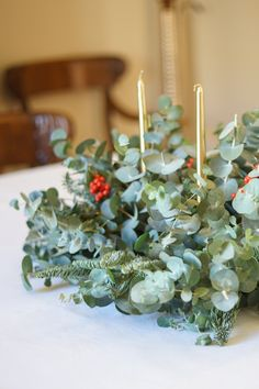 Diy, Plants, Christmas, Christmas Eve Dinner, Christmas Tabletop, Setting Table, Centerpieces, Mesas, Xmas