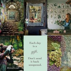 Each day gift Quote Collage, Word Collage, Beautiful Collage, Beautiful Words, Creative Inspiration, Color Inspiration, I Need A Hobby, Photography Collage, Warrior Spirit