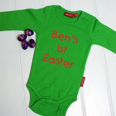 Personalised babys first easter babygrow cute gift personalised first easter babygrow negle Choice Image