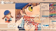 ✔ Digital Coloring | How to draw Manga Art 2017.10.18