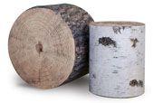 Furu & Bjørk Stubbe (pouffe) by ygg & lyng, designed by Elin Louise Sveen Scandinavian Furniture, Scandinavian Design, Nordic Design, 3d Design, Tree Stump Table, Spring Projects, Textiles, Retro Futuristic, Pouf Ottoman