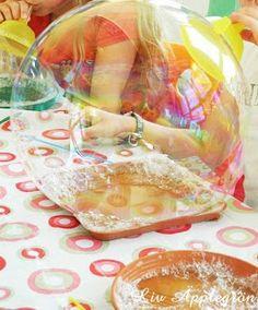 Äpplegrön: Super Seifenblasen MIT Rezept 1 Teil glycerin 4 Teile Wasser 1 Teil Spüli
