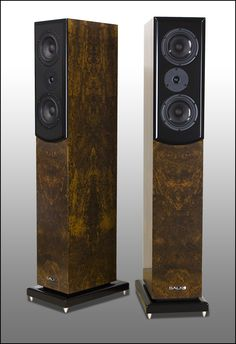 Salk Signature Sound - Craig's SongTower QWT's in burled imbuya. Very dense burl and classic imbuya coloration.