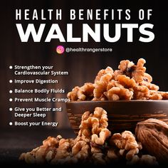 Walnuts provide healthy fats, fiber, vitamins, and minerals — and that's just the beginning of how they may support your health. Health Benefits Of Walnuts, Healthy Fats, Healthy Eating, Stay Fit, Health Tips, Vitamins, Nutrition, Wellness, Breakfast