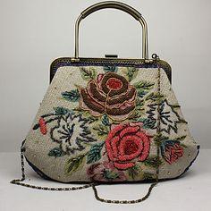 Lady's Vintage Fashion Top Grade Flower Pattern Clutch