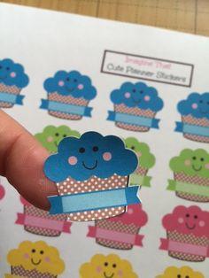Birthday Planner Stickers  Cupcake Planner Stickers for our Erin Condren Planner