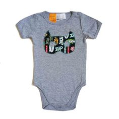 Cool Baby Boy Applique Onesie Romper Tshirt by KaPow - 'Superhero' Mask on light grey