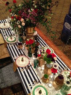 black and white striped wedding inspiration by PEPLUM events.
