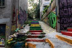 Rainbow Steps, Istanbul Beyoglu
