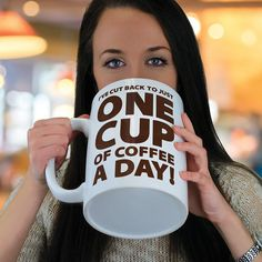 Huge 64 oz One Cup a Day Coffee Cup Mug