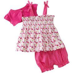 So La Vita Baby-girls Newborn Butterfly Print Smocked Dress with Shrug