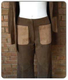 Vintage 1960s 1970s Two Tone Brown Leather by diggerodellvintage, $49.00