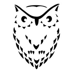 Abstracted Owl - tattoo inspiration