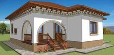 Casa de pe strada verii, arhitect Adrian Paun / stil #neoromanesc Village Houses, Dream House Plans, Design Case, Traditional House, Exterior Design, Cottage, House Design, Mansions, House Styles