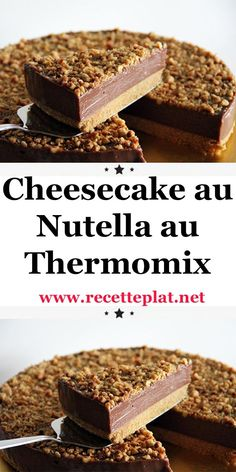 Here is the recipe for Nutella cheesecake with Thermomix, a very gourmet cheesecake without cooking, Desserts Nutella, Crock Pot Desserts, Nutella Cheesecake, Blueberry Desserts, Nutella Recipes, Chocolate Desserts, Thermomix Cheesecake, Dessert Thermomix, Cheesecake Recipes