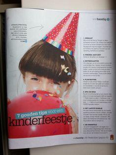 Tips verjaardagsfeestjes. Bron: AH WatHandig nr3 2013