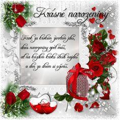 Přání k narozeninám « Rubrika | Dennysek Christmas Wreaths, Christmas Ornaments, Holiday Decor, Blog, Bouquets, Home Decor, Happy, Christmas Swags, Xmas Ornaments