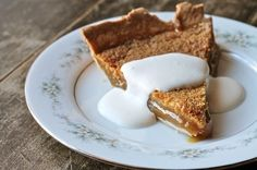 Nova Scotia Backwoods Pie: a cross between the traditional Canadian dessert, sugar pie and a standard maple syrup pie