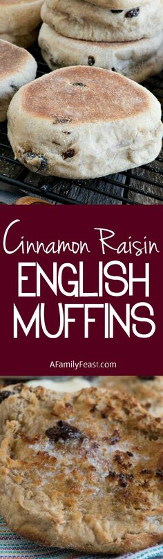 Cinnamon Raisin English Muffins - It's surprisingly easy to make this breakfast favorite at home!